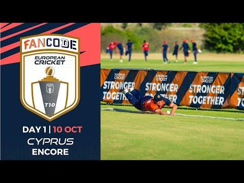 🔴 FanCode European Cricket T10 Cyprus Encore, 2021, Day 1 | T10 Live Cricket