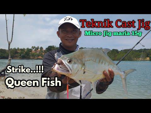 Teknik Cast Jig UL || Shore Slow Jigging || Micro Jig 15g Maria Memang Killer