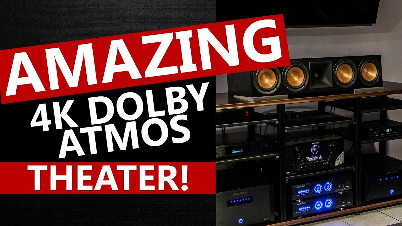 4K Dolby Atmos Auro-3D Klipsch and SVS Home Theater Room