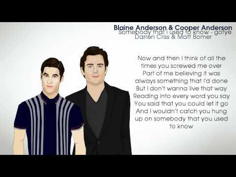 Glee Cast - Somebody That I Used To Know (Lyrics)