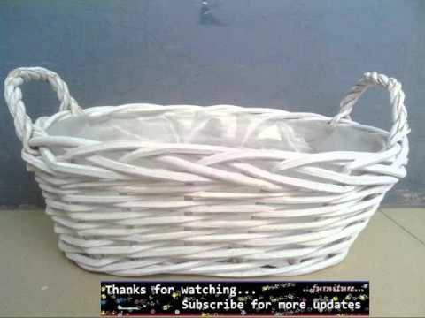White Wicker Basket | Wicker Furniture Ideas