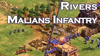 Malians Infantry!   1v1 Rivers vs DauT