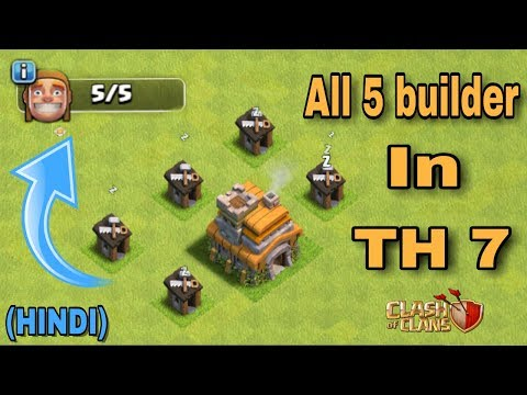 (HINDI) - how To Get Your All 5(five) Builder Hut In TH7 just in a week!  | clash of clans