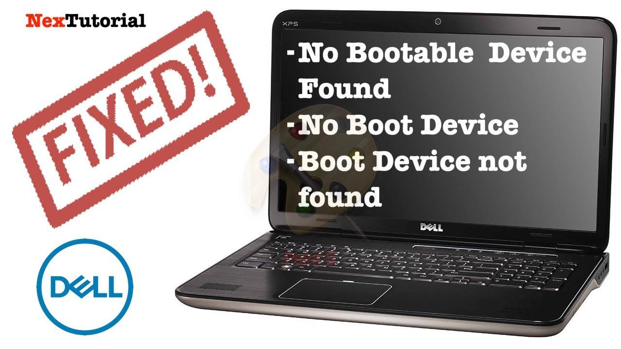 How to Fix Dell No Bootable Device Found / No Boot Device / Dell Latitude  E5470 | NexTutorial