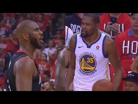 """Chris Paul Tells Kevin Durant """"Shut Up and Play Ball"""" For Complaining About Foul!"""