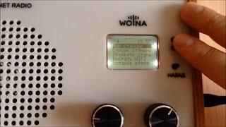 Подробный обзор WIFI интернет радиоприемника WOLNA. radiowolna.ru