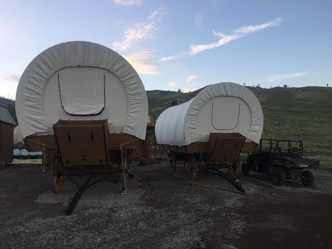 Goosewing Ranch Glamping Wagon Tour, Jackson Hole, WY July 2017