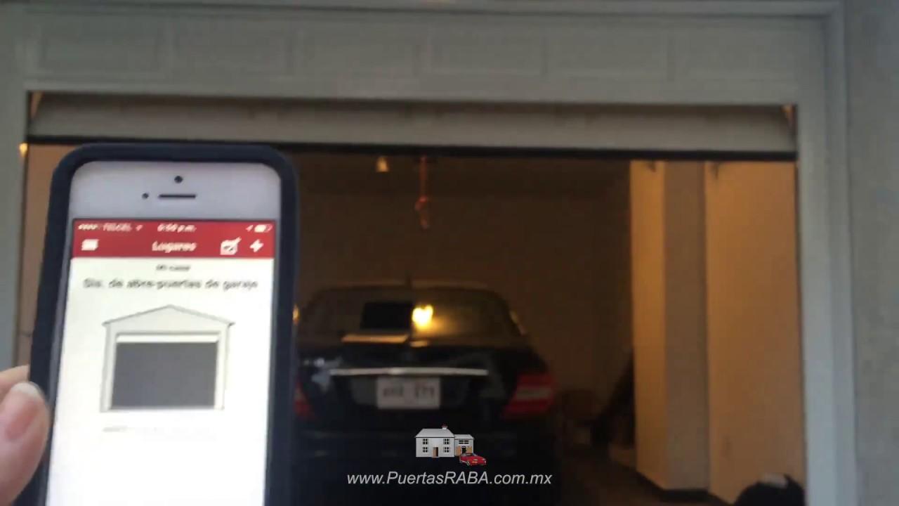 Abre la puerta del garaje desde tu m vil v a internet for Puerta automatica no abre