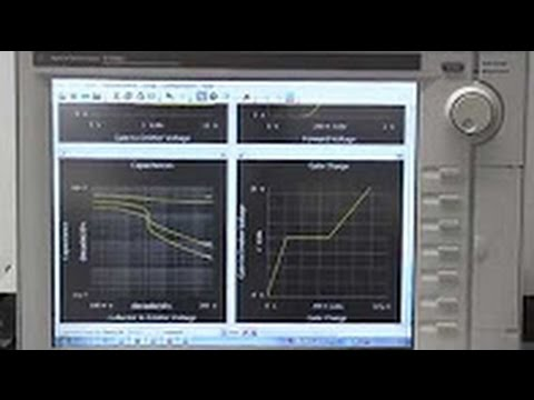 Automotive IGBT module: datasheet parameter evaluation with B1506A
