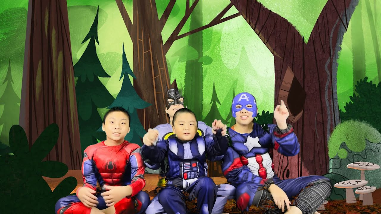Learn ABC letters. 26 letters body show from superheros. Come to learn letters with superhero!