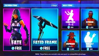 "*NEW* Fortnite ""Fate"" + ""Fated Frame"" GAMEPLAY In Fortnite! New Fortnite Fated + Fated Frame SKINS!"