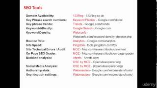 What SEO tools to use -Section 4