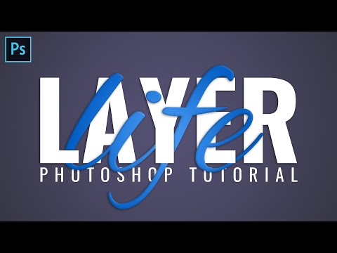 Interlaced 3D Text Effect - Typography Photoshop Tutorial