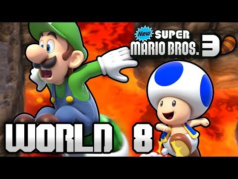 New Super Mario Bros. 3+ Part 8 - World 8 (4 Player)