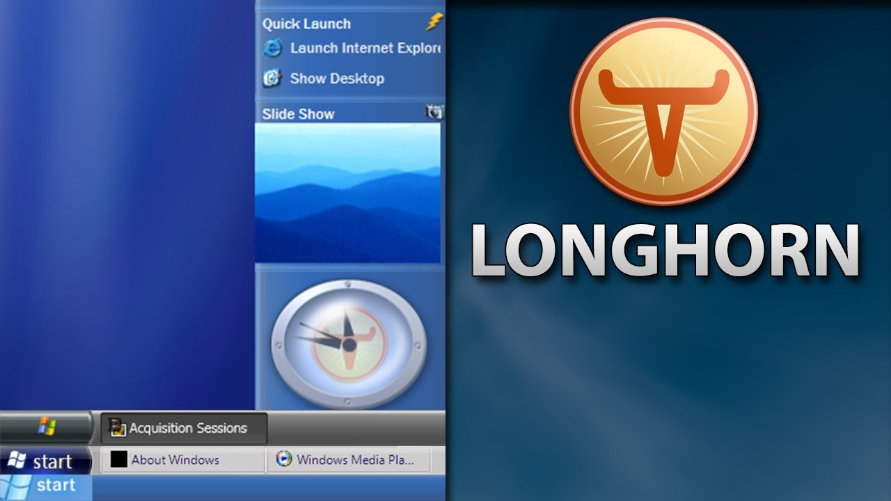A Tour of Longhorn - The Windows That Never Was - Software Showcase