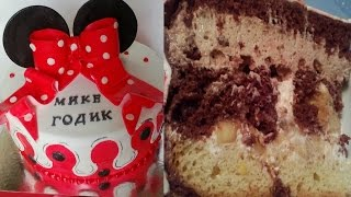 "Как сделать авторский торт""Флагшток"" в стиле Минни"