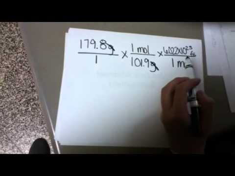 How To; convert grams to formula units - YouTube
