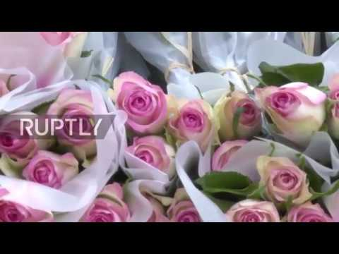 France: 'FromRussiaWithLove' flashmob held in Paris on Women's Day