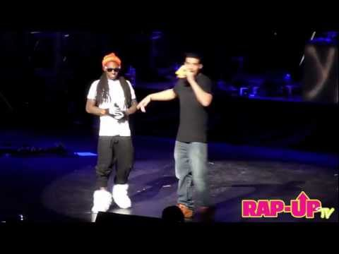 Drake and Lil Wayne Perform 'The Motto' at Cali Christmas 2011