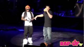 Drake and Lil Wayne Perform 'The Motto' at Cali Christmas 2011