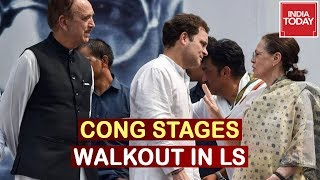 Congress Stages Walkout In Lok Sabha Over Withdrawal Of SPG Cover Of Gandhi Family | 5ive Live