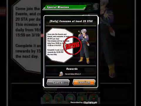 Dragon ball z Dokkan battle awakening medal for lr trunks