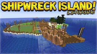 MINECRAFT 1.14 - SHIPWRECK SURVIVAL ISLAND! WE FOUND BERRIES!! (Dinnerbone Seed)