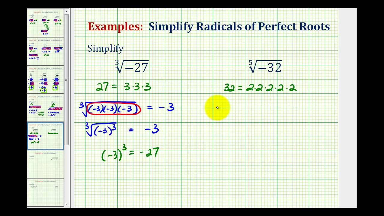 hight resolution of Perfect Cubes And Cube Roots (video lessons