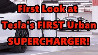 In Depth Tesla Urban Supercharger FIRST LOOK Chicago
