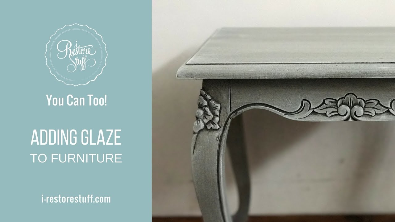 Adding Glaze to Furniture - YouTube
