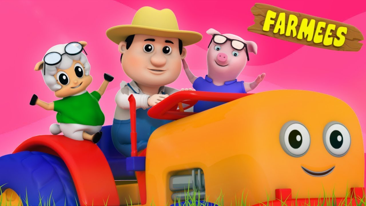 Old MacDonald had a farm   3D rhymes   Children song by Farmees