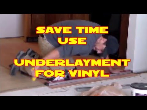 D.I.Y. install Underlayment for vinyl flooring Home Depot materials