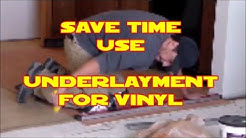 D.I.Y. install Underlayment for vinyl flooring Home Depot materials