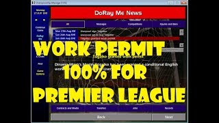 championship manager 01/02 cheat : How to get non eu player with 100% work permit granted