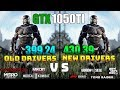 NVIDIA Drivers 399.24 vs 430.39 On GTX 1050Ti Test in 8 Games
