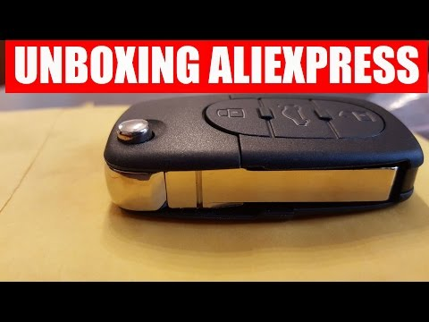 Unboxing 📦 New 3 Button Remote Key Fob Case Shell & Blade for Audi A2 A3 A4 A6 A8 TT from Aliexpress