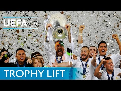 Real Madrid lift UEFA Champions League trophy