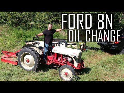 1948 Ford 8n Oil Change Youtube