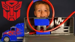 Игрушки Трансформеры 4. Грузовики для детей. Optimus Prime Challenge. Игрушки Грузовик.