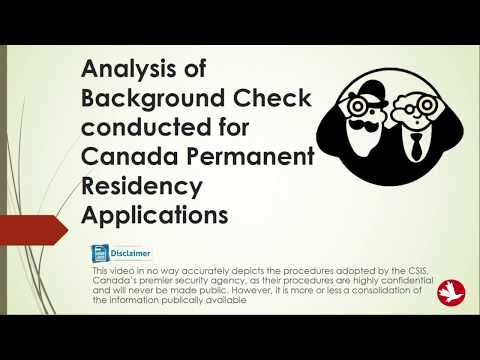 🇨🇦 🇨🇦 GCMS Notes - Analysis Of Background Check  For Express Entry