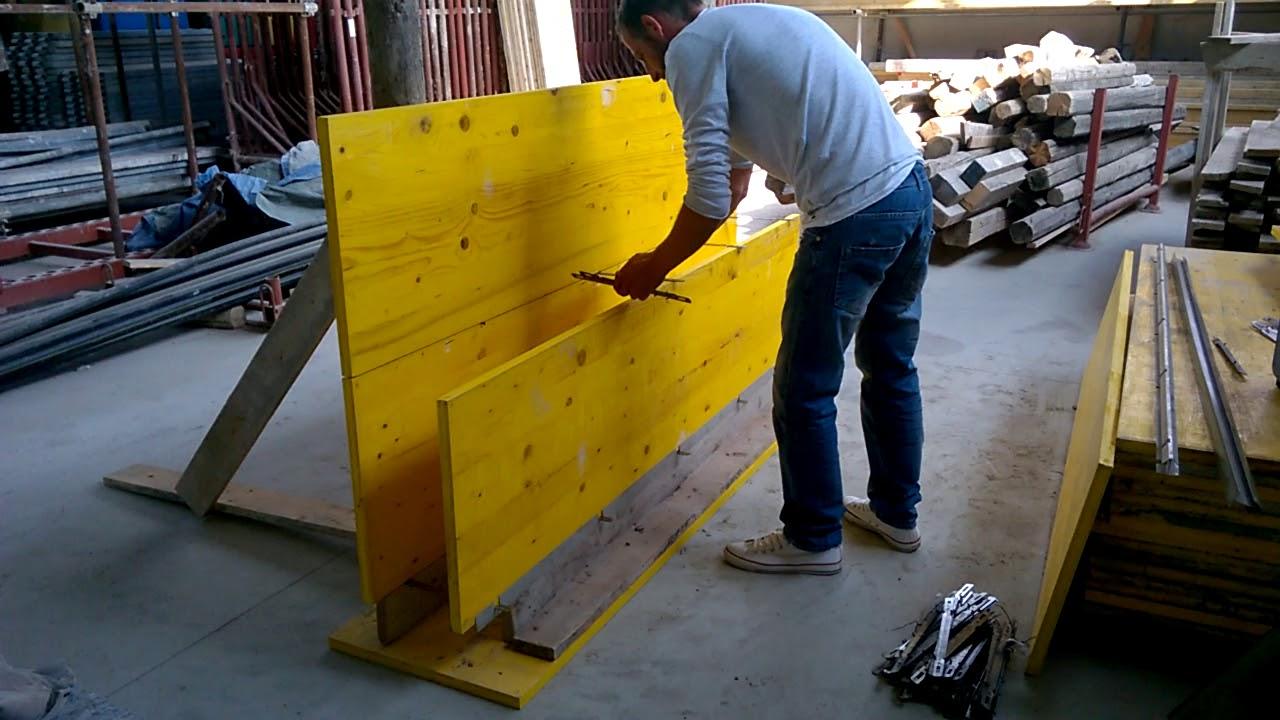 Come Si Costruisce Un Muro In Cemento Armato.Profilo Orizzontale Per La Realizzazione Di Muri In Cemento Armato