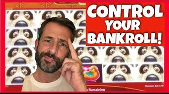 How to CONTROL YOUR BANKROLL at the Casino! Winning money takes work playing slot machines!
