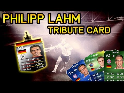PHILIPP LAHM TRIBUTE CARD! FIFA 14 ULTIMATE TEAM