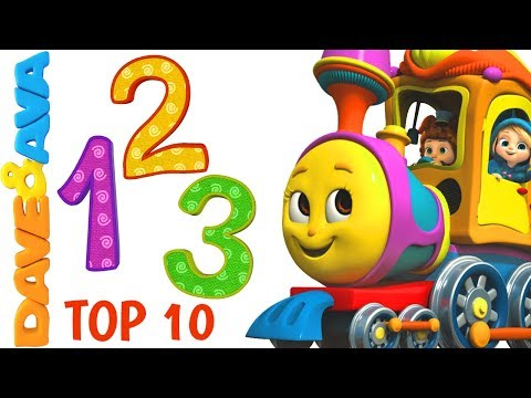 Thumbnail: 🍭 Learn Numbers and Counting 1 to 10 | Nursery Rhymes Collection from Dave and Ava 🍭