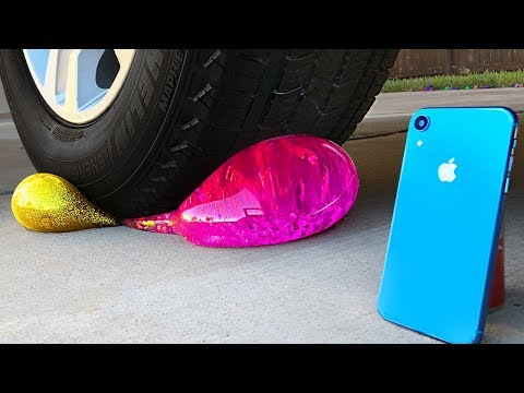 Crushing Crunchy & Soft Toys by Car! - iPhone, LOL Surprise, Floral Foam and More!