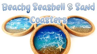 Easy Resin Diy Seashell Sandy Beach Coasters