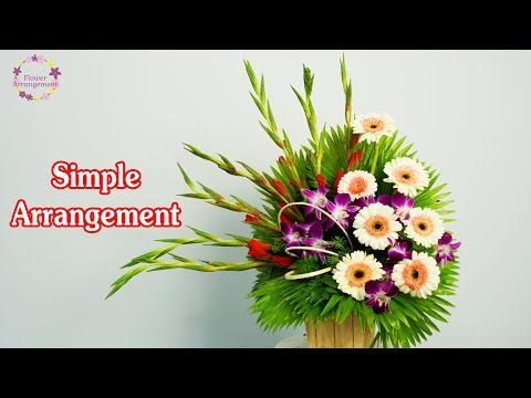 HOW TO DO Basic Flower Arrangement Gladiolus mix Gerbera Flower?148 thumbnail