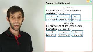 Summen und Differenzen   Mathematik