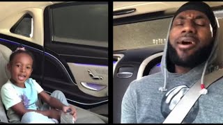 Lebron James and  Zhuri James enjoying frozen soundtrack Daddy Daughter time