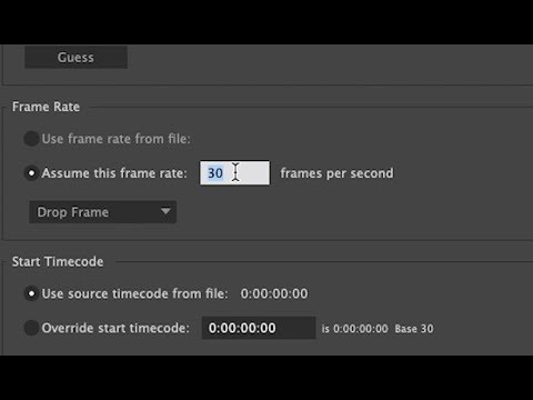 How to change the frame rate on a footage in After Effects